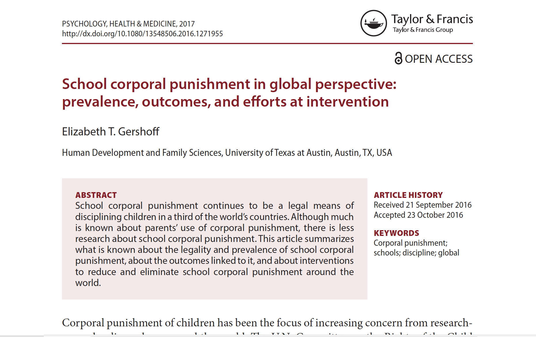 reasons why corporal punishment is good
